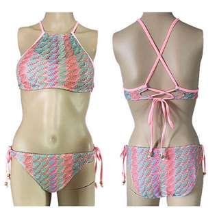 OshareGirl 05 歐美幾何圖騰設計綁帶泳衣Swimsuit uk summer free /現貨uk8一組