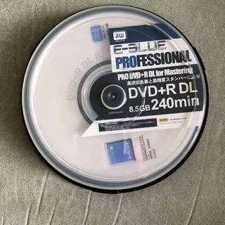 全新 E - Blue Professional DVD+R DL 8.5GB 240min合共9隻