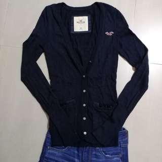Hollister Cardigan深篮色針織外套有logo己經绝版專門店冇貨