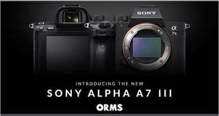 Sony a7 mark 3 Body / Sony a7 mark 3 w 28-70mm kit lens