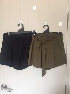 2pc tie up shorts