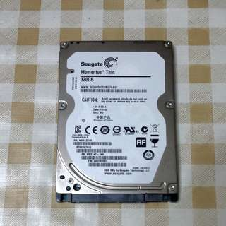 320GB seagate hardisk 2.5' sata