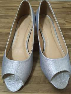 Anna Nucci Bridal Silver Heels Low
