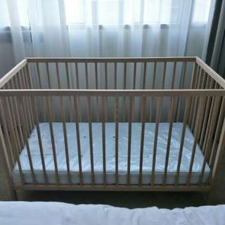 Baby Bed / Cot + Mattress