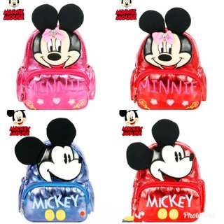Ransel anak import mickey&minnie mouse