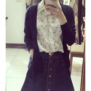 GU 深藍針織外套