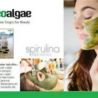 Masker Spirulina ORIGINAL 60pcs/botol