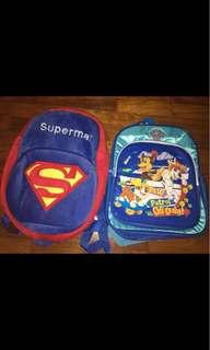 Superman Paw patrol Backpack Bag