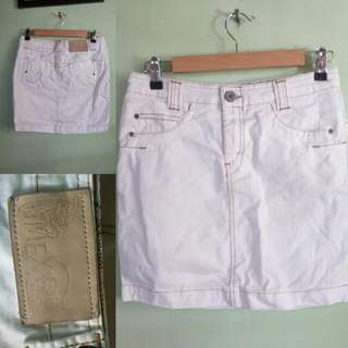 Mexx white denim mini skirt