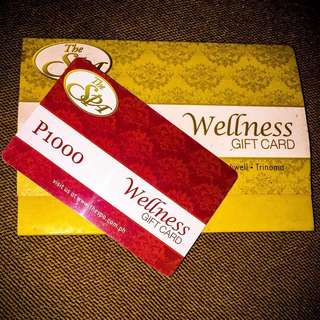 The Spa 1000 pesos Gift card
