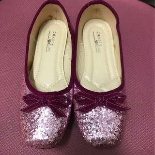 女孩子閃石平底鞋