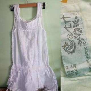 Zara Trafaluc white long top