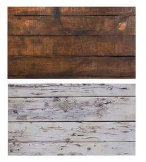 Wood Style Food Photography Backdrop