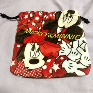 Mickey and Minnie Drawstring Pouch