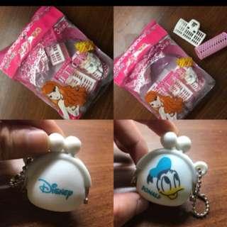 粉紅髮捲 小零錢包👛 迪士尼唐老鴨