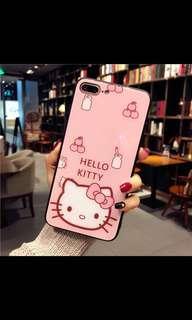 Hello Kitty蘋果鋼化膜全屏幕玻璃鏡7plus手機殼
