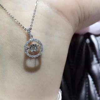 鑽石18k頸鏈+ 坠 主鑽石0.05分,副石0.135