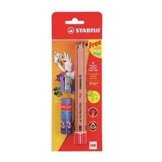 $5 STABILO Trio Jumbo Grip Triangular HB Pencils Pack