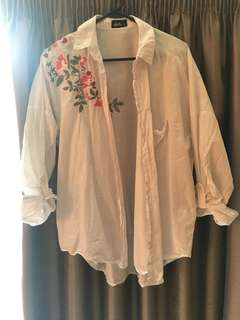 Oversized floral blouse 10