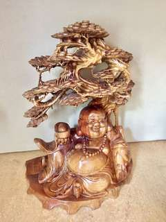 Grand Pine Wood Matrieya Buddha