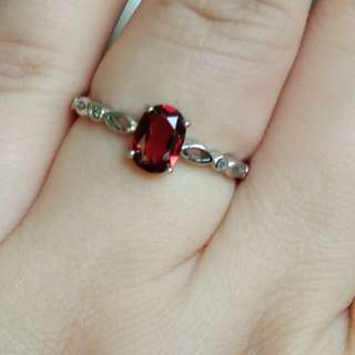 🎋Natural Red Garnet Classic Ring🎋