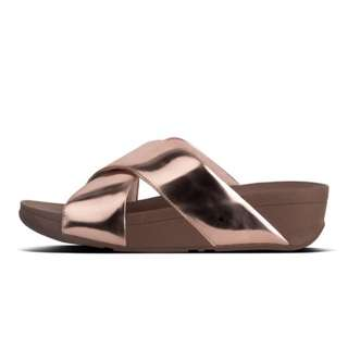 FitFlop SWOOP™  Slide Sandals | Rose-Gold-Mirror | US Women's Size 8,10,11 | Flip Flop Sandal Slipper Slide