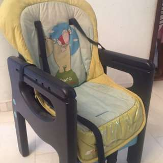 Baby high chair type seat