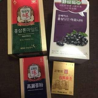 正官庄 高麗蔘燉品/高麗蔘茶/野櫻莓汁/高麗蔘粉