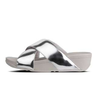 FitFlop SWOOP™  Slide Sandals | Silver Mirror | US Women's Size 8,9,10,11 | Flip Flop Sandal Slipper Slide