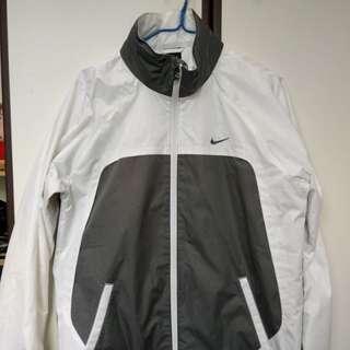 Nike Jacket white grey with zipper size S