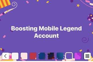 Boosting of Mobile Legend Account