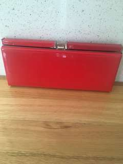 Betts Red Patent Clutch