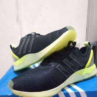 Sale Adidas Original ZX FLUX Advantage Black Green Neon BNIB