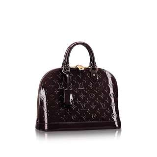 Louis Vuitton Alma Amarante Monogram Vernis Leather guaranteed authentic