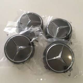 Dark Grey AMG Edition Mercedes Wheel Center Cap