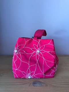 Pink beaded cute bag
