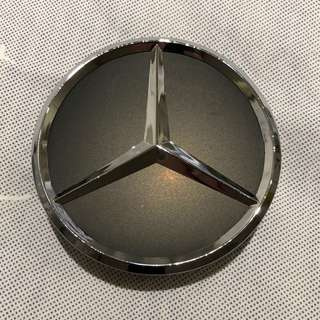 Black Chrome 75mm Mercedes Wheel Center Cap