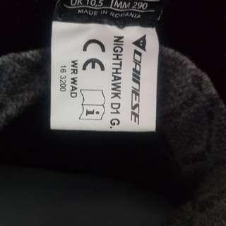 Dainese Nighthawk D1 Boots (Size:US11.5, EU45)