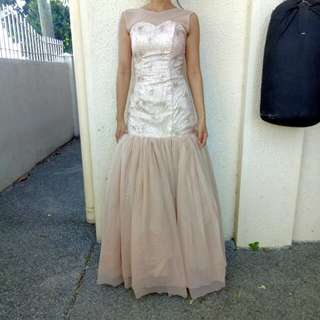 Semi Rosegold Gown