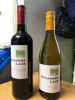 結婚剩餘物資 sycamore 紅酒 白酒