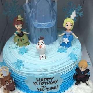 城堡和elsa公主蛋糕(一套)