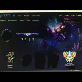League Of Legends Challenger Account with A lot of skins!