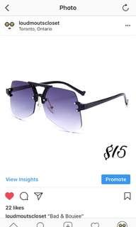 Brand New Purple Black Sun Glasses