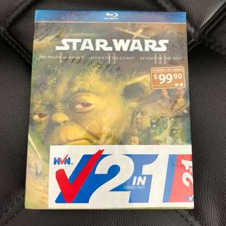 STAR WARS Trilogies 2 in 1 (Episode 1 to 6) Blu Ray Disc ORIGINAL
