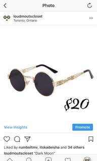 Brand New Men's Gold Frame Sun Glasses