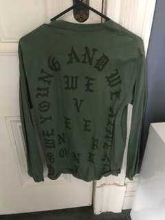 Yeezy supply long sleeve top army green
