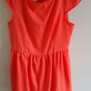 Bright and bubbly orange play suit size 12 💖