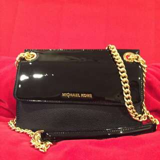 割!不議價!Micheal Kors Leather Crossbody Bag