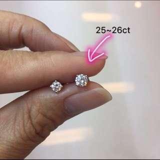 18k 鑽石耳環(一隻)