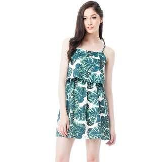 The Blush Inc Tierred Palm Tree Dress